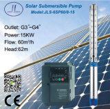 bomba de água solar centrífuga submergível de 20HP 6in