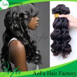 Волосы 100% заплетения объемной волны человеческих волос бразильские