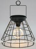 Decoración Vintage Roundmetal Linterna de camping con LED Bombilla