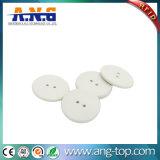Resistente a altas temperaturas de la etiqueta RFID UHF Servicio de lavandería con dos agujeros