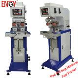 グループの使用よい販売法小さい機械手動パッドプリンター2カラーによって使用される焼付装置