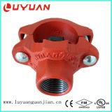 Té mécanique de boulon en U malléable de fer d'ASTM a-536 avec des homologations d'UL de FM