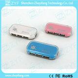 Crystal Case Design 4 Port USB Hub 2.0 (ZYF4234)