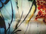 Ткань сатинировки Organza печатание Silk