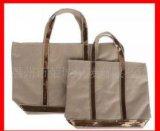 نمو يطبع علامة تجاريّة تسوق حقيبة يد جوتة خيش حقيبة