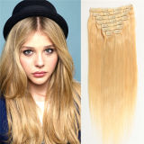 Volles Head 20 Inch 10PCS Blonde Virgin Klipp in Extensions
