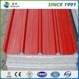 El panel de emparedado de acero de la venta 2017 de construcción del material del color acanalado caliente de la estructura de acero