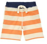 Kid's Pants Pantalon maillot rayé de l'été shorts orange néon
