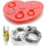 Cubito de la FDA Grado creativo del dedo del anillo del amor de hielo del silicón