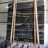 Marmo nero poco costoso, pavimentazione di marmo nera, marmo d'argento del nero del drago di Portoro