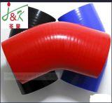 Das 4 Falte-Polyester verstärkte der 90 Grad-Krümmer-Kühlmittel-Silikon-Gummi-Schlauch