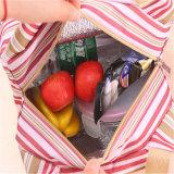 韓国のしまのある厚くされた絶縁体袋の昼食袋のハンド・バッグの昼食のパッケージによってカスタマイズされる氷の絶縁体ボックス(GB#YL816)