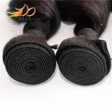 Pedaços de cabelos virgens malaio ondas soltas tramas de cabelo de alta qualidade