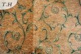 잎 디자인 폴리에스테 자카드 직물 셔닐 실 (fth31885)