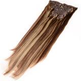 2016人間の毛髪の拡張Remy 70g 100gのブラジルの毛の拡張ブラジルのバージンの毛のまっすぐなクリップの新しい到着クリップ