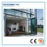 Porte de pliage en aluminium extérieure moderne de Bi de Roomeye avec le double glacé