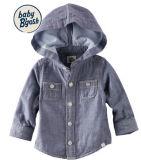 La mode hiver manteau chaud pour les enfants, Hoodded Chambry Shirt