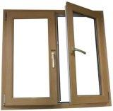 고전적인 작풍 목제 곡물 천연색 필름 입히는 PVC 여닫이 창 유리창 (PCW-045)