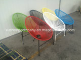 Commerce de gros rond coloré en rotin chaise de jardin