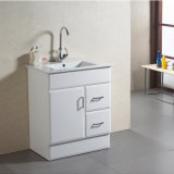 Moderner MDF Bathroom Furniture mit Mirror und White Basin