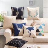 工場スペインの販売のソファーのクッションはクッションカバーを印刷した