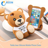 Samsung /iPhone 3D Silicone Mobile Phone CaseのためのテディBear
