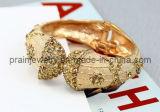 La primavera de la moda Pulsera Chapado en oro blanco Diamante Estrás Cumpleaños aniversario regalos de la PROM (PB-078)