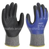 Полно перчатка работы покрытия отрезанная упорная с нитрилом Dopping (ND6516)