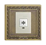 Laiton antique Voice / Interrupteur de lumière