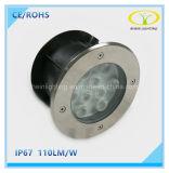 Indicatore luminoso sotterraneo moderno LED di disegno 9W con IP67 impermeabile