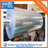 Teinte bleue transparente en PVC rigide du rouleau de film