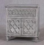 Античным отраженная Whitewash деревянная таблица пульта для домашней мебели