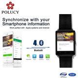 Silicones mobiles Smartwatch de téléphone cellulaire de la mode 3G avec la carte SIM