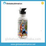 Bottiglie di acqua di alluminio poco costose su ordinazione con le marche in bianco della bottiglia