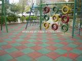 Piso de borracha de segurança para o parque infantil (PT1177 Certificados)
