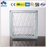 Tijolo de vidro do espaço livre 190X190X80mm do diamante do preço de Jinghua o melhores/bloco