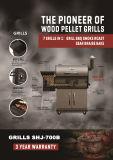 完全なステンレス鋼の焼跡の火格子の喫煙者BBQのグリル