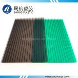 Bereiftes dunkles hohles Bronzepolycarbonat-Plastikdach-Blatt