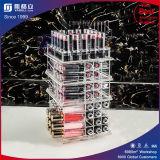 Kundenspezifischer kosmetischer drehender Balck Acrylausstellungsstand für Lippenstifte