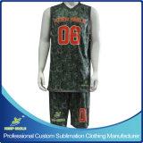 Uniformes à pli unique de la meilleure qualité de réversible de basket-ball de pleine impression faite sur commande de sublimation