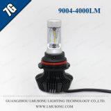 Indicatori luminosi anteriori della lampada della testa dell'automobile del kit 35W 4000lm del faro di Lmusonu 7g 9004 LED per il camion