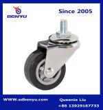 1.5 Thru 3 дюйма малой грузоподъемности патентном полиуретановой Поворотный ролик