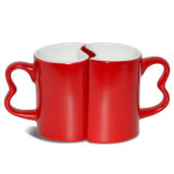 Tazza resa personale di Cearmic delle coppie 11oz con la tazza di caffè magica di colore nero per amore