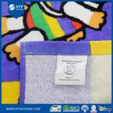 卸売の100%年の綿のベロアは印刷されたビーチタオルをカスタム設計する
