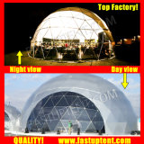 Fabricado na China Geodome 18m de diâmetro Dome Geodésico tenda para casamento ao ar livre