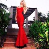 Vestido largo largo vestido vendaje vestido rojo vestidos sin mangas Fishtail