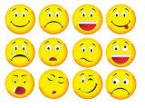 Большинств популярный магнит холодильника Emoticon Emoji шаржа высокого качества DIY милый