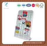 Стеллажи для выставки товаров сек индикаций книги металла магазинов розничной торговли книги