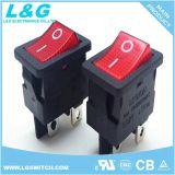 UL/ENEC Dpst/4p 온-오프 승인되는 Miniatue 로커 스위치