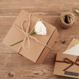 cadres de empaquetage de cadeau de papier de 6X6X6 Brown emballage (KPB666-2)